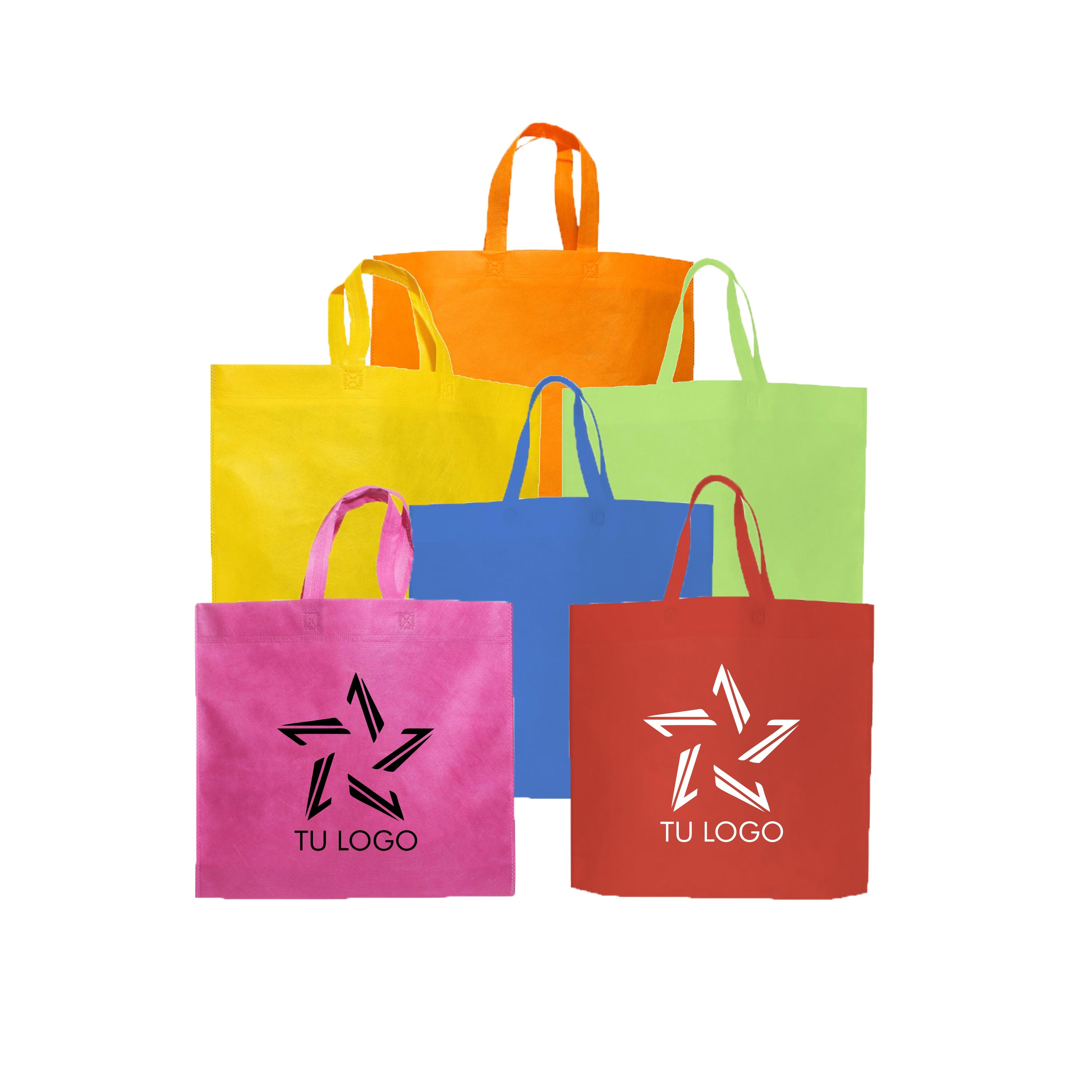 Eco Bolsa Personalizada con Logo 40x45x10 Manijas Colores