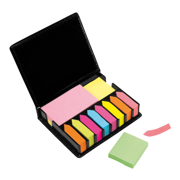 Set De Post It Ecocuero - Personalizado Con Logo - Memo Set Office